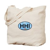 Hilton Head Island SC - Oval Design Tote Bag