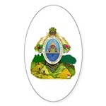 Honduras Coat of Arms Oval Sticker (10 pk)