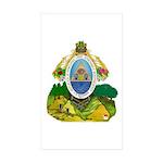 Honduras Coat of Arms Rectangle Sticker 10 pk)