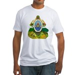 Honduras Coat of Arms (Front) Fitted T-Shirt