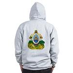 Honduras Coat of Arms (Back) Zip Hoodie