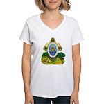 Honduras Coat of Arms Women's V-Neck T-Shirt