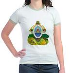 Honduras Coat of Arms (Front) Jr. Ringer T-Shirt