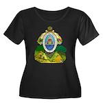 Honduras Coat of Arms (Front) Women's Plus Size Sc
