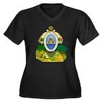 Honduras Coat of Arms (Front) Women's Plus Size V-