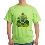 Honduras Coat of Arms (Front) Green T-Shirt