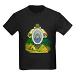 Honduras Coat of Arms (Front) Kids Dark T-Shirt