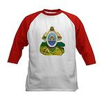 Honduras Coat of Arms (Front) Kids Baseball Jersey