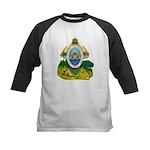Honduras Coat of Arms Kids Baseball Jersey