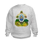 Honduras Coat of Arms (Front) Kids Sweatshirt