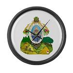 Honduras Coat of Arms Large Wall Clock