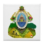 Honduras Coat of Arms Tile Coaster