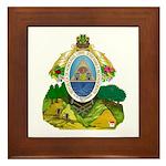 Honduras Coat of Arms Framed Tile
