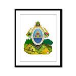 Honduras Coat of Arms Framed Panel Print