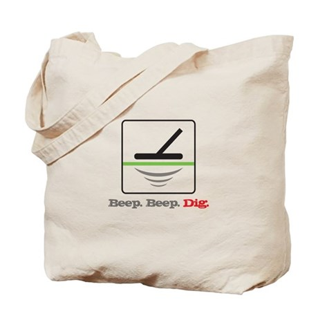 Metal Detecting Beep Beep Dig Tote Bag