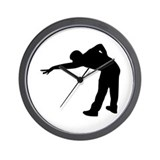 Billiards player Wall Clock