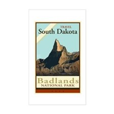 Travel South Dakota Rectangle Decal