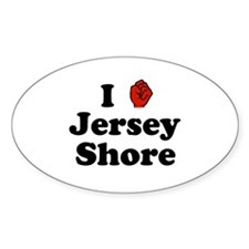 Jersey Shore Oval Sticker (50 pk)