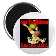 "Rescue Haiti 2.25"" Magnet (100 pack)"
