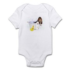 Bubble Bath Basset Infant Bodysuit