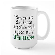 Never Let the Facts... (Shoe) Large Mug