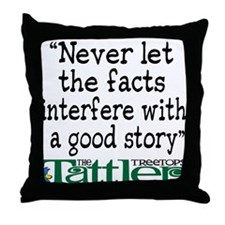 Never Let the Facts... (Shoe) Throw Pillow