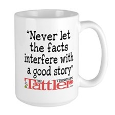 Never Let the Facts... (Roz) Large Mug