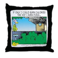 Burn Calories Throw Pillow