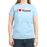 I Love Nurses Women's Pink T-Shirt