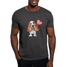 Basset Heart Balloon T-Shirt