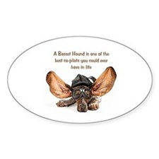 Basset Flying Oval Decal