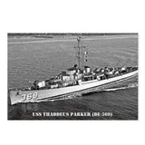 USS THADDEUS PARKER Postcards (Package of 8)