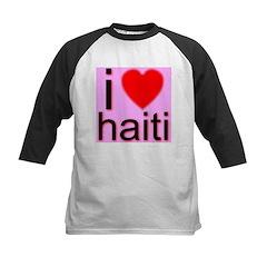 i (heart) haiti Kids Baseball Jersey