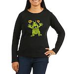 Hug Me, I'm Green! Women's Long Sleeve Dark T-Shir