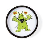 Hug Me, I'm Green! Wall Clock