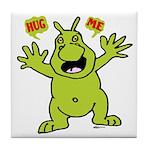 Hug Me, I'm Green! Tile Coaster