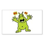 Hug Me, I'm Green! Rectangle Sticker 50 pk)