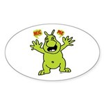 Hug Me, I'm Green! Oval Sticker (10 pk)