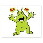 Hug Me, I'm Green! Small Poster
