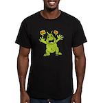 Hug Me, I'm Green! Men's Fitted T-Shirt (dark)