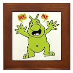 Hug Me, I'm Green! Framed Tile