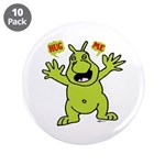 "Hug Me, I'm Green! 3.5"" Button (10 pack)"