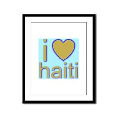 i (heart) haiti Framed Panel Print