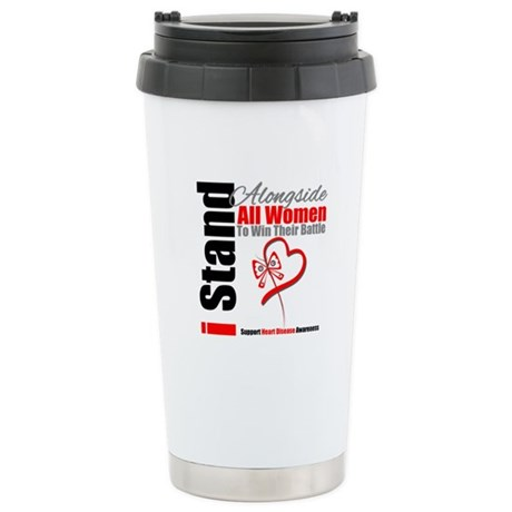 StandWomenHeart Disease Ceramic Travel Mug