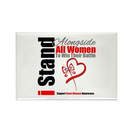 StandWomenHeart Disease Rectangle Magnet