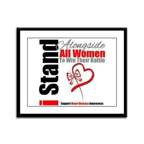 StandWomenHeart Disease Framed Panel Print