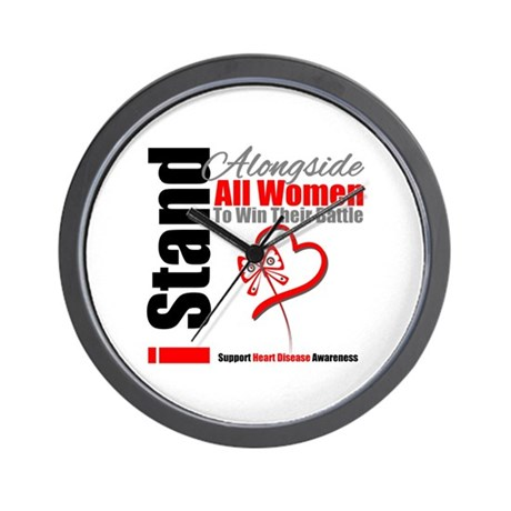 StandWomenHeart Disease Wall Clock