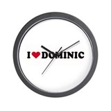 I LOVE DOMINIC ~  Wall Clock