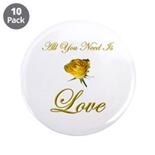 "All You Need Is Love 3.5"" Button (10 pack)"