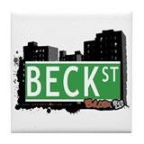 Beck St, Bronx, NYC Tile Coaster